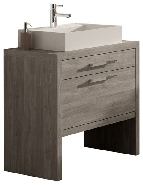 Montreal Oak Bathroom Vanity 24 Quot Contemporary Bathroom Vanities And Sink Consoles