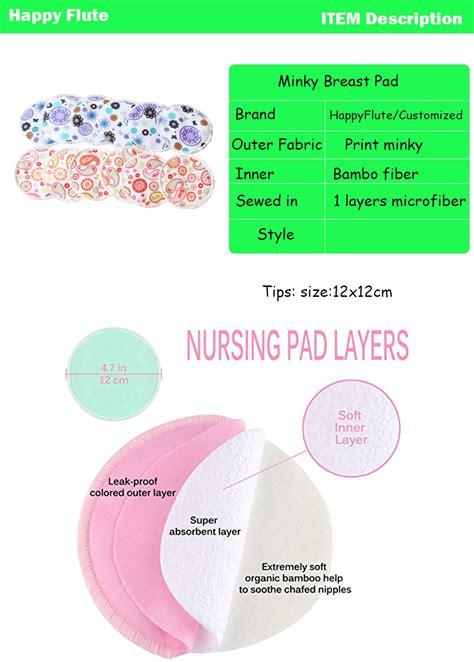Breast Pad Gabag happy flute shape washable bamboo fiber breast nursing pads buy bamboo nursing pad