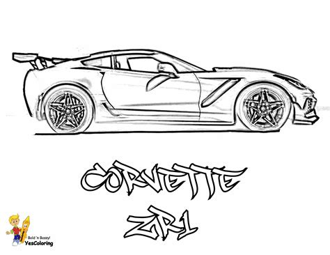 red blooded car coloring pages  corvettes cameros