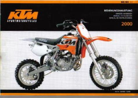 Ktm 65 Sx Repair Manual 2000 Ktm 60 65 Sx Motorcycle Owners Manual