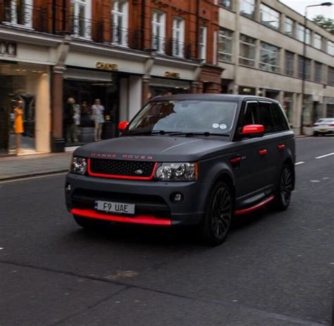 matte maroon range rover matte black with red details love this one land rover