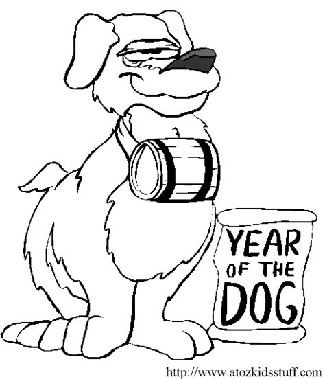 coloring pages year of the dog a to z kids stuff chinese new year dog