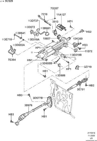 2002 ford explorer parts diagram exploded view for the 2002 ford explorer tilt steering