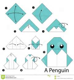 Penguin Origami - step by step how to make origami a penguin