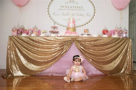 Bella Home Decor by Gorgeous Pink Amp Gold 1st Birthday Party Susy Martinez
