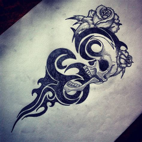skull with tribal tattoo designs tribal skull designs images for tatouage