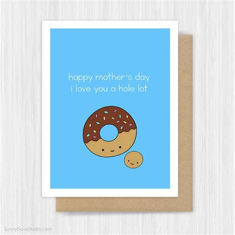 cute mothers day cards mothers day card for mom mother mum funny donut pun cute fun i