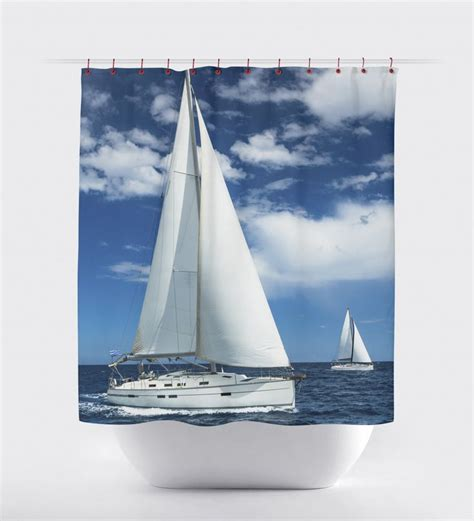 boat with bed and bathroom best 25 nautical shower curtains ideas on pinterest
