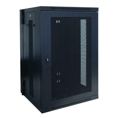 tripp lite 18u wall mount rack enclosure cabinet hinged