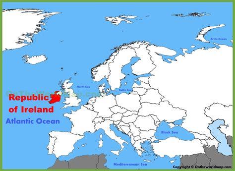 ireland location on the europe map
