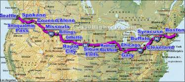 us map of interstate 90 i 90 interstate 90 road maps traffic news