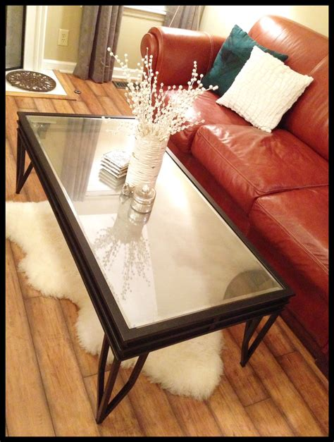 Diy Glass Top Coffee Table Diy Coffee Table Www Therefurbishedlife Turn A Glass Top Table Into A Mirrored Top Table