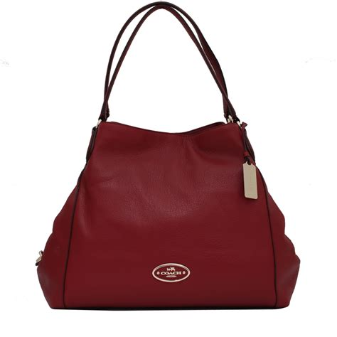 Handmade Leather Bags Singapore - coach 33547 edie shoulder bag in pebbled leather pink
