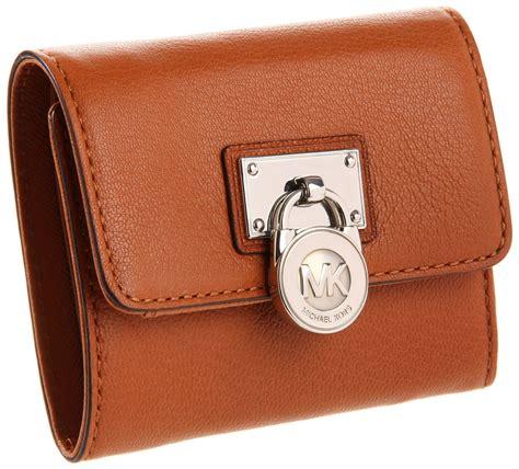 Mk Sml Wallet michael michael kors michael michael kors hamilton small flap wallet in brown luggage lyst