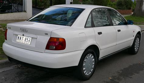 how does cars work 1996 audi a4 spare parts catalogs file 1995 audi a4 8d 1 8 sedan 2015 07 03 02 jpg wikimedia commons