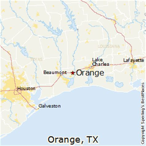 map of orange texas best places to live in orange texas