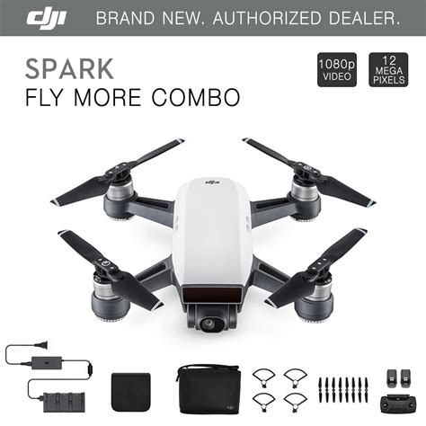 Dji Spark Eu Non Combo Propeller Guard Battery Garansi Tam dji spark fly more combo alpine white quadcopter drone 12mp 1080p ebay