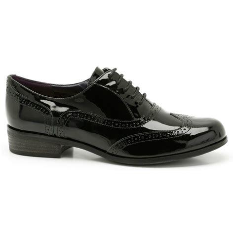 clarks womens hamble oak black patent leather casual shoes