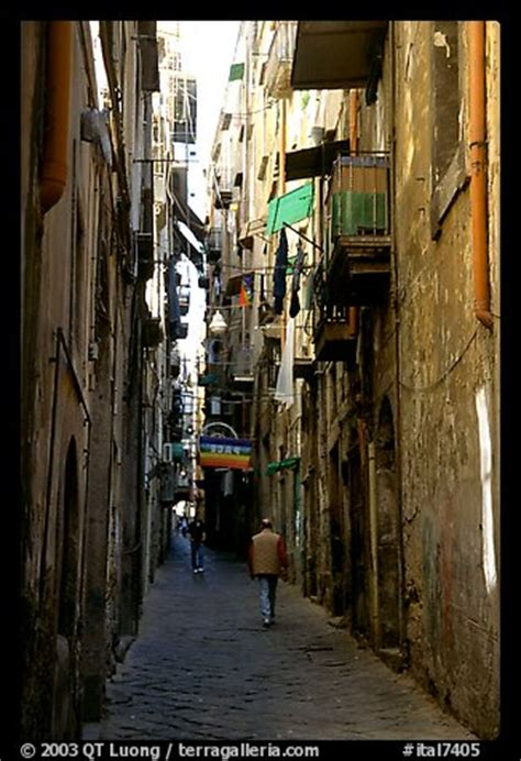 picture/photo: narrow side street in spaccanapoli. naples