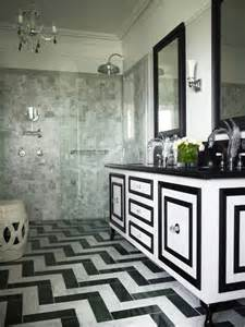 Swan Faucets Black And White Bathroom Transitional Bathroom Greg