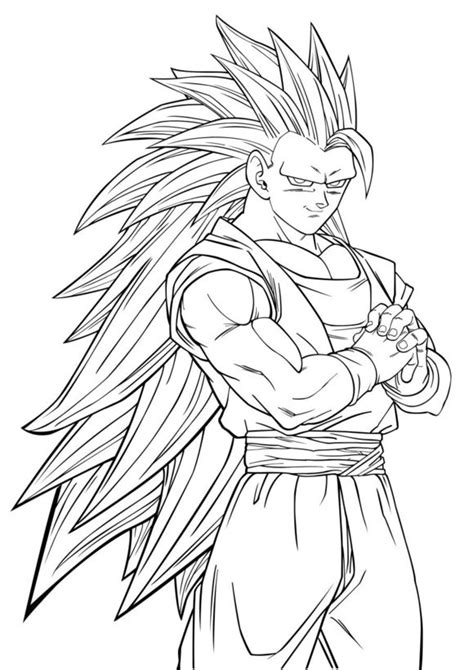 coloring book vs of pablo goku ssj6 free coloring pages