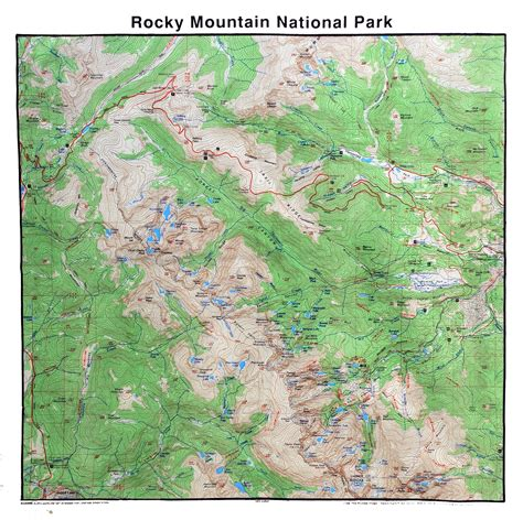 rocky mountain national park map bandana map of rocky mountain national park rocky mountain conservancy