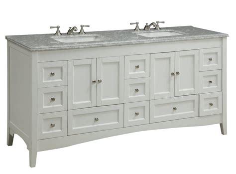 72 Inch Bathroom Vanity Double Sink Shaker Style White Bathroom Vanities Photos