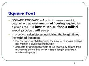 How To Determine The Square Footage Of A House Ppt Calculating Board Linear Square