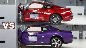 Dodge Vs Ford Crash Test 2016 Dodge Challenger Vs 2016 Ford Mustang
