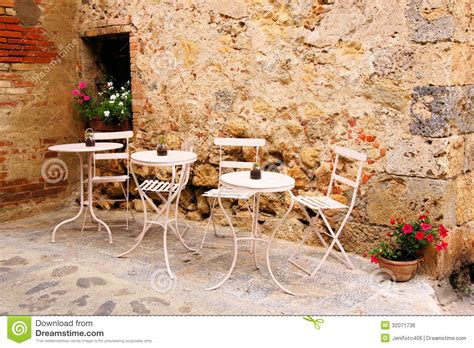 outside cafe table and chairs quaint cafe royalty free stock image image 32071736