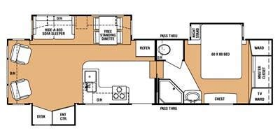 everest rv floor plans full specs for 2008 keystone everest 295ts rvs rvusa com