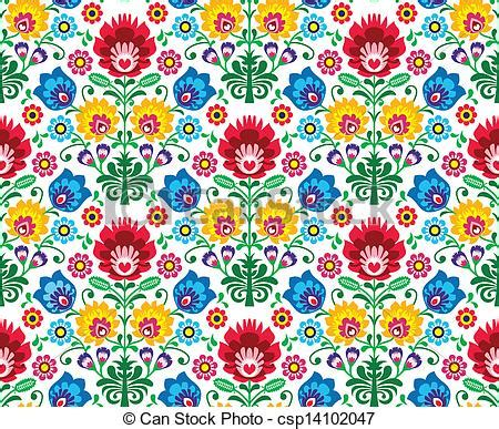 eps vector of seamless floral polish pattern repetitive