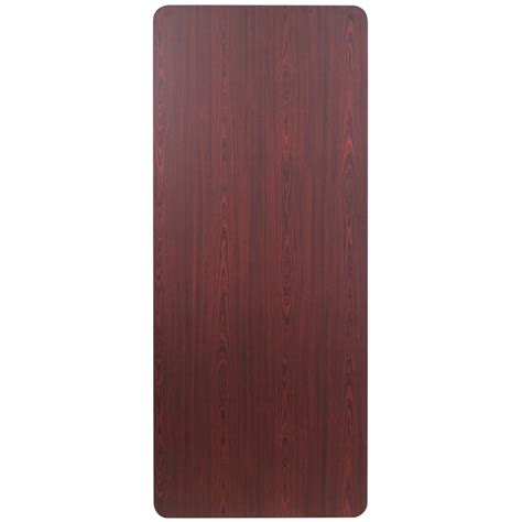 Folding Laminated Paper - 30 x 72 rectangular high pressure mahogany laminate