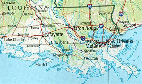 louisiana coast map of the louisiana gulf coast southern spaces