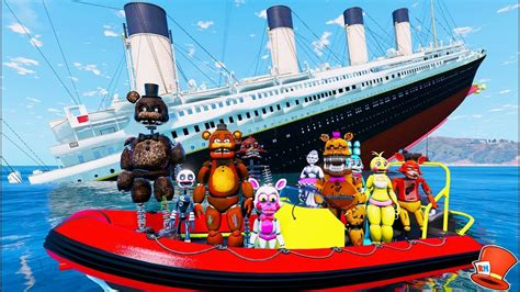 sinking boat gta 5 animatronics on the sinking titanic gta 5 mods for ki