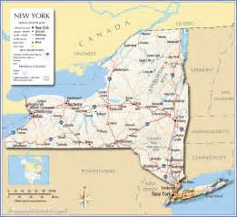 new york canada map reference map of the state of new york usa nations