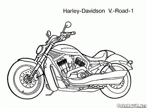 dibujo  colorear motocicletas