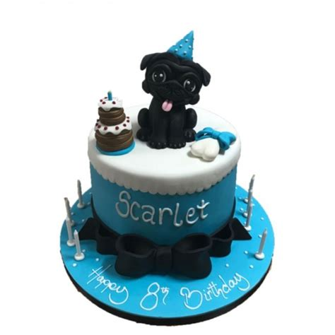 birthday cake pug pug animal cake birthday unisex