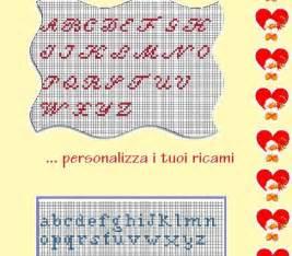 ricamo punto croce lettere alfabeti punto croce