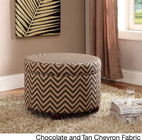 storage ottoman overstock kinfine large round storage ottoman contemporary