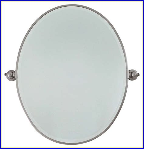 Design Ideas For Brushed Nickel Bathroom Mirror Brushed Nickel Bathroom Mirror Oval Bathroom Home Design Ideas O5er4qp9w3