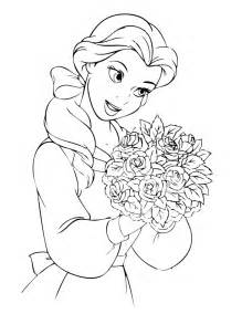 belle coloring pages print az coloring pages