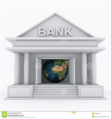 d bank banking bank 3d icon stock illustration image of corporation