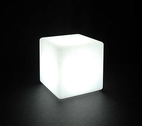 Waterproof LED Rainbow Lighted 8x8 Cube, Remote, Four