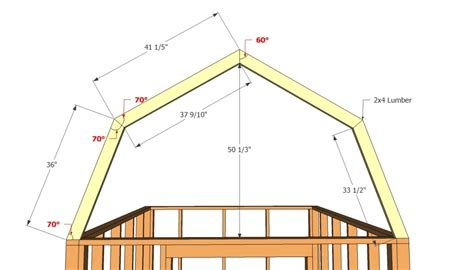 how to build a barn style roof barn shed plans howtospecialist how to build step by