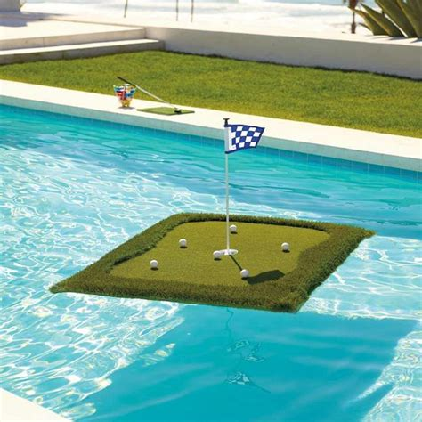 floating golf green  golfers dream  love