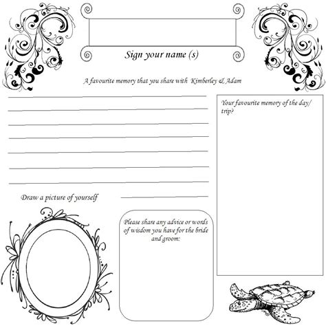 Diy Wedding Guest Book Template diy guest book pages 197mm x 197mm diy forum passport invitation template boarding pass