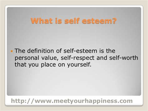 selves meaning 21 low self esteem symptoms