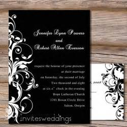 capable white and black wedding invitation iwi130 wedding invitations invitesweddings