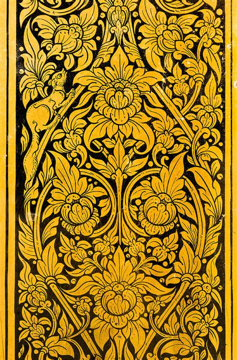 pattern of thai design painting by chatuporn sornlampoo